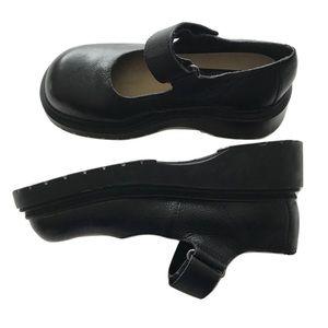 4b0a3e69238 Mia Shoes - MIA Mary Janes Chunky Platform 90s Black leather